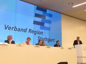 Die Spitze des Verbandes Region Stuttgart bei der Haushaltsrede